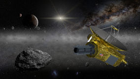 Новая космическая исследовательская ракет горизонтов в поясе Kuiper Стоковое Изображение RF