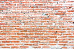 Новая красная кирпичная стена для нового дома стоковые фото
