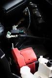 Новая машинная часть автомобиля Современный мощный двигатель автомобиля Мощный en Стоковые Фото