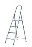 Новая металлическая лестница шага Стоковая Фотография