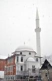 Новая мечеть в снеге Стоковое фото RF