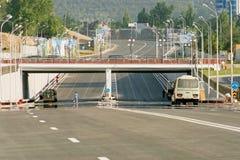 Новая многоленточная дорога Стоковое Изображение