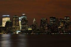 новая ноча york Стоковое Изображение