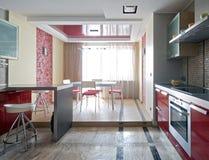 новая нутряной кухни самомоднейшая Стоковые Изображения