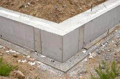 Новая домашняя конструкция основания учреждения Стоковые Фото