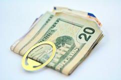 Новая 100 долларовых банкнот Стоковые Изображения RF