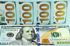 Новая 100 долларовых банкнот Стоковое Изображение