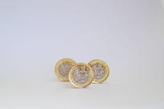Новая одна монетка фунта Стоковое Изображение