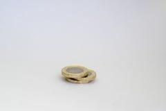 Новая одна монетка фунта Стоковая Фотография
