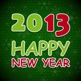 Новая поздравительная открытка 2013 год. Стоковое фото RF