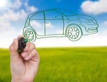 Новая принципиальная схема автомобиля Стоковое Изображение