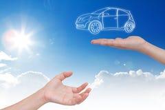 Новая принципиальная схема автомобиля Стоковые Изображения RF