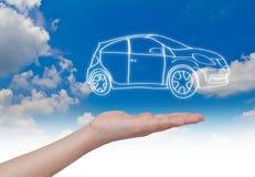 Новая принципиальная схема автомобиля Стоковые Изображения