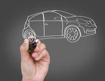 Новая принципиальная схема автомобиля Стоковое Фото