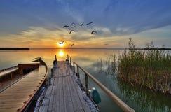 Новая пристань Стоковая Фотография