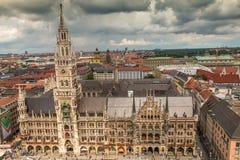 Новая ратуша в Мюнхене Германии Стоковое Изображение RF