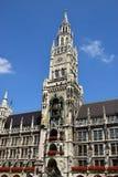 Новая ратуша (Neues Rathaus) в Мюнхене, Германии Стоковое Фото