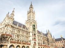 Новая ратуша, Neues Rathaus, в Мюнхене, Германия Стоковое Изображение