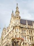 Новая ратуша, Neues Rathaus, в Мюнхене, Германия Стоковое Изображение RF