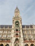 Новая ратуша, Neues Rathaus, в Мюнхене, Германия Стоковые Фотографии RF