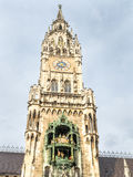 Новая ратуша, Neues Rathaus, в Мюнхене, Германия Стоковые Изображения RF