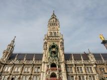 Новая ратуша, Neues Rathaus, в Мюнхене, Германия Стоковое фото RF