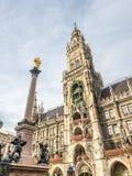Новая ратуша, Neues Rathaus, в Мюнхене, Германия Стоковая Фотография