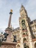 Новая ратуша, Neues Rathaus, в Мюнхене, Германия Стоковое Фото