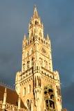 Новая ратуша (Neues Rathaus) в Мюнхене Стоковые Фотографии RF