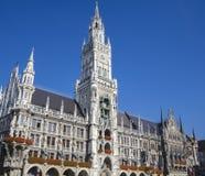 Новая ратуша - Neues Rathaus, Мюнхен Стоковое Изображение