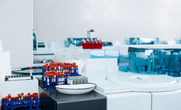 Новая светлая лаборатория быть готовый для экспериментов Стоковые Изображения RF