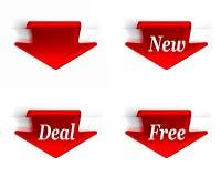 Новая сделка освобождает красный цвет Стоковое Изображение
