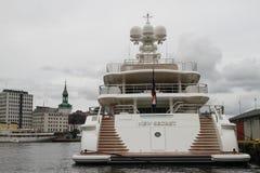 Новая секретная яхта Стоковые Фотографии RF