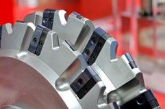 Новая современная промышленная мельница конец вверх Стоковые Фотографии RF