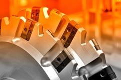 Новая современная промышленная мельница Красный тонизировать Стоковые Фото