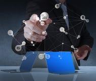 новая современная сеть social компьютерной выставки Стоковые Изображения RF