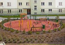 новая спортивная площадка селитебная Стоковые Фото