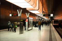 Новая станция Hafencity в Гамбурге Стоковая Фотография