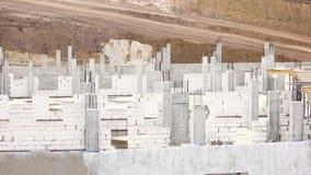 Новая строительная площадка от, который пенят бетонных плит видеоматериал