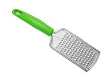 Новая терка сыра с зеленой ручкой Стоковое Фото