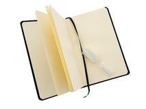 Новая тетрадь пустой страницы с таймером яичка теперь время изолят Стоковое Изображение RF