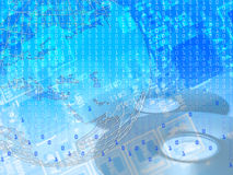 новая технология принципиальной схемы предпосылки Стоковые Изображения RF