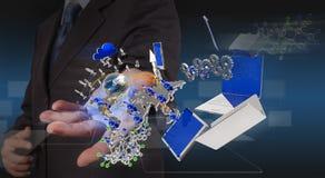 Новая технология в руке Стоковая Фотография RF