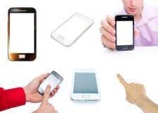 Новая технология и человек Smartphone Стоковое Фото