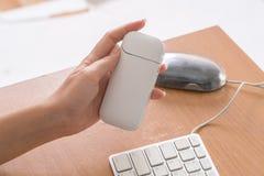 Новая технология электронных сигарет, система топления к Стоковое фото RF