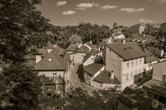 Новая улица мира, городок Праги старый, чехия Стоковое Изображение
