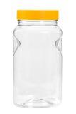 Новая, чистая, пустая пластичная бутылка на белой предпосылке Стоковые Изображения RF