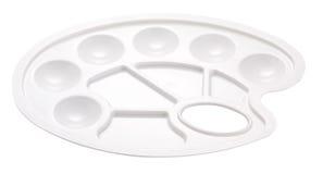 новая чистая пластичная палитра изолированная на белизне стоковое изображение rf