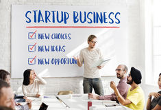 Новая Startup концепция идей возможностей для бизнеса стоковое фото rf