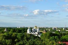 Новгород Кремль с взглядом птиц-глаза, Veliky Новгород Стоковая Фотография